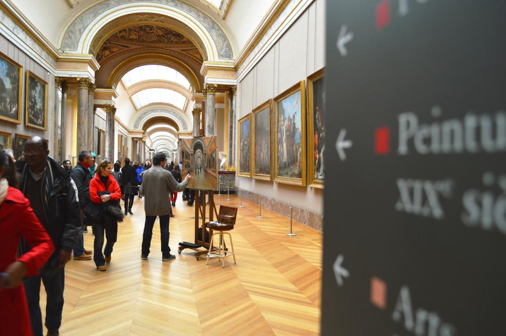 Painter at La Louvre